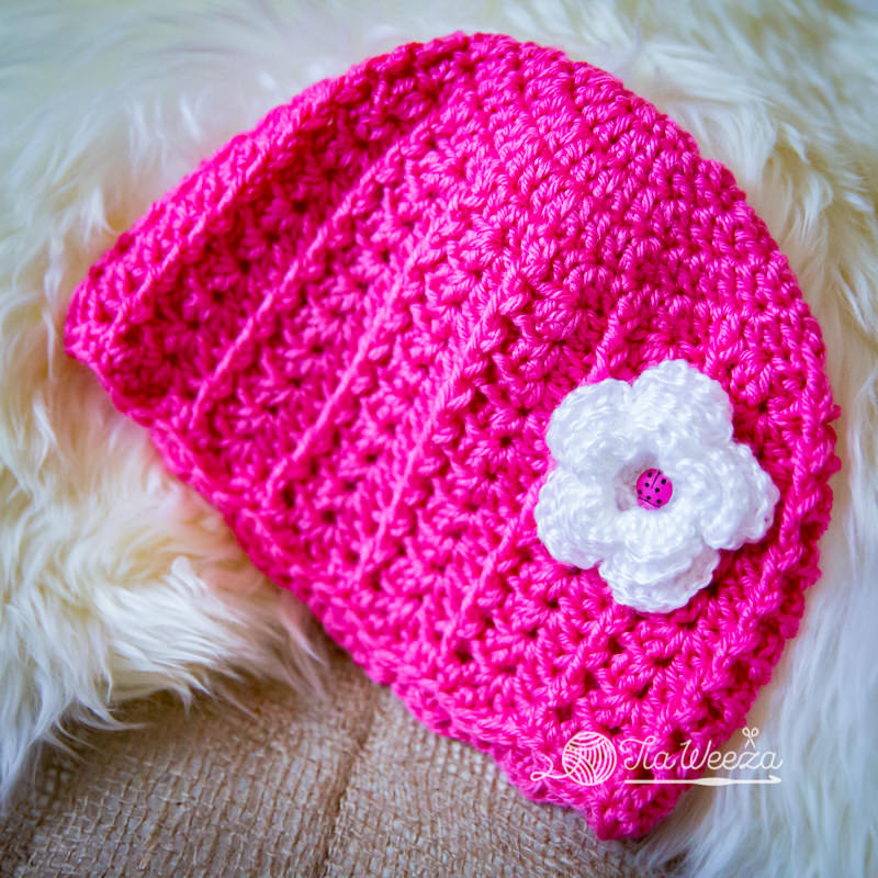 square aspect newborn baby cap knitted